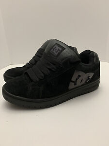 Mens-Size-7-DC-Shoes-Triple-Black-Skateboarding-Shoes