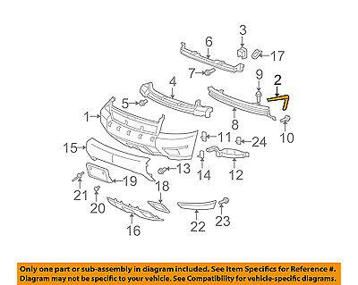 Chevrolet GM OEM Front Bumper-Bumper Cover Side Bracket Left 15923612
