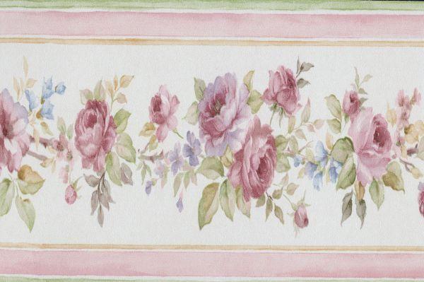 PR79654 - Floral Prints 2 floral Striped Multicoloured Galerie Border