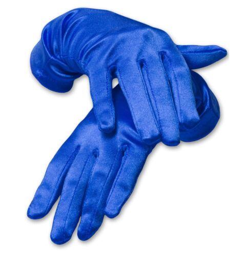 Beautiful Wrist Length Satin Gloves