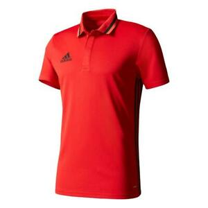 New-adidas-Condivo-16-Mens-Climalite-Polo-t-Shirt-XS-to-3XL-Red-sport-gym
