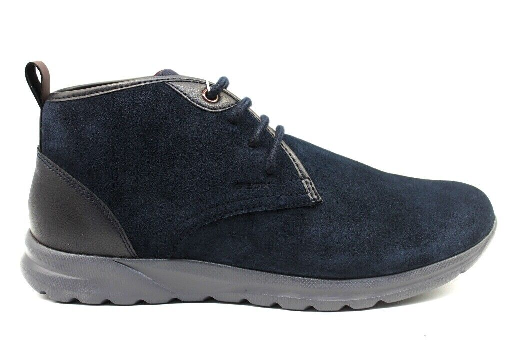 Geox Damian U940HC 022BC Blau Stiefeletten Herren Schuhe Casual