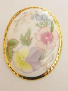 PORCELAIN-PANSY-DIANTHUS-AYNSLEY-STYLE-BROOCH-PIN