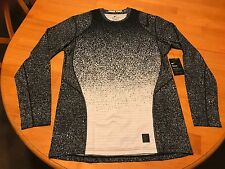 NIKE PRO DRI-FIT WARM FITTED LONG SLEEVE CREW SHIRT 820215-100 LARGE Fitted SZ L