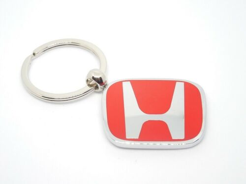 HONDA RED H RACING DOUBLE SIDED METAL KEY CHAIN KEYCHAIN CIVIC ACCORD RSX NEW