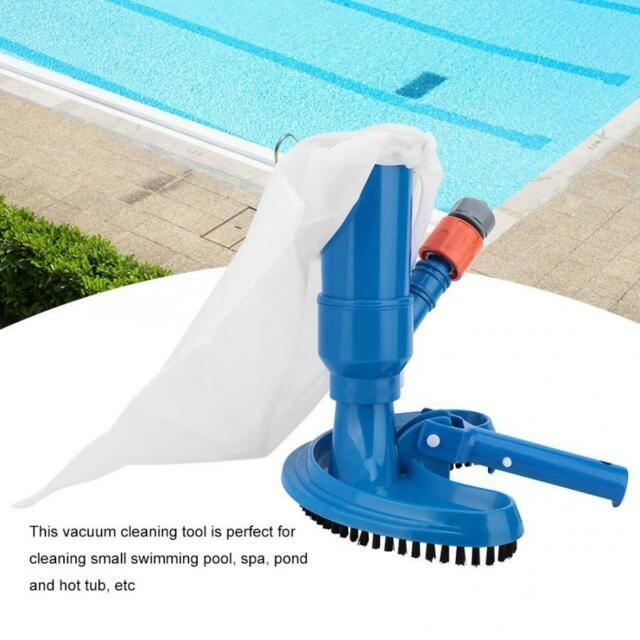 Swimming Pool & Spa Jet Vacuum w/ Brush, Bag, Hose Adapter & Pole Cleaning  Tool