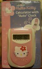 Sanrio Hello Kitty Calculator With Auto Clock #KT2076 Folding Case Brand New