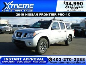 2019 Nissan Frontier PRO-4X *INSTANT APPROVAL* $0 DOWN $209/BW!