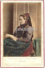 1858 Hand Colored Cabinet Photograph by Franz Hanfstangl Munchen #11  Costume