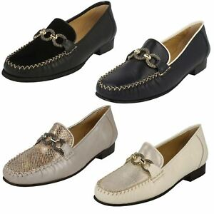 131d9592f187 Ladies Leather Slip On Van Dal Loafers Moccasin Smart Elegant Shoes ...