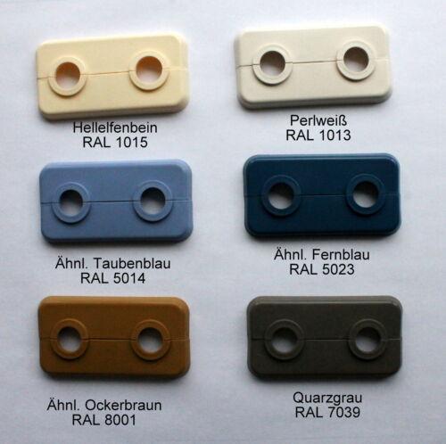 Doppelrosetten 15 mm in Sonderfarben 5 Stück Heizkörperrosetten Restposten
