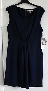 NWT-Ladies-Blue-Sleeveless-Fully-Lined-Dress-Zip-and-Button-Fastening-LG