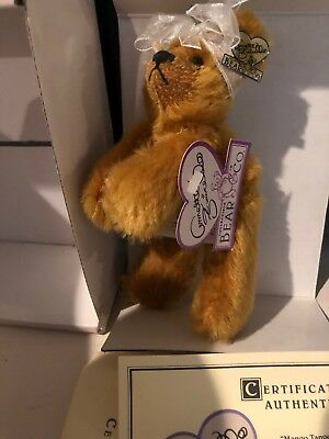 "Collection Here Annette Funicello ""mango Tango"" Mohair Bear 6"" Dolls & Bears Coa Be Novel In Design"