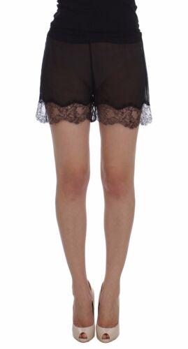 NWT $360 DOLCE /& GABBANA Shorts Black Floral Lace Silk Sleepwear s IT1 //US XS