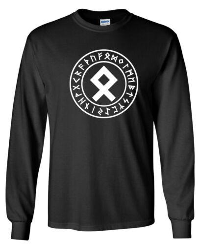Norse Odin Viking Ragnarok Thor Odal OTHALA Rune LONG SLEEVE T-shirt