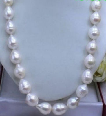 HUGE SEA AAA+ 11-12 MM WHITE AKOYA BAROQUE PEARL NECKLACE 18 INCH