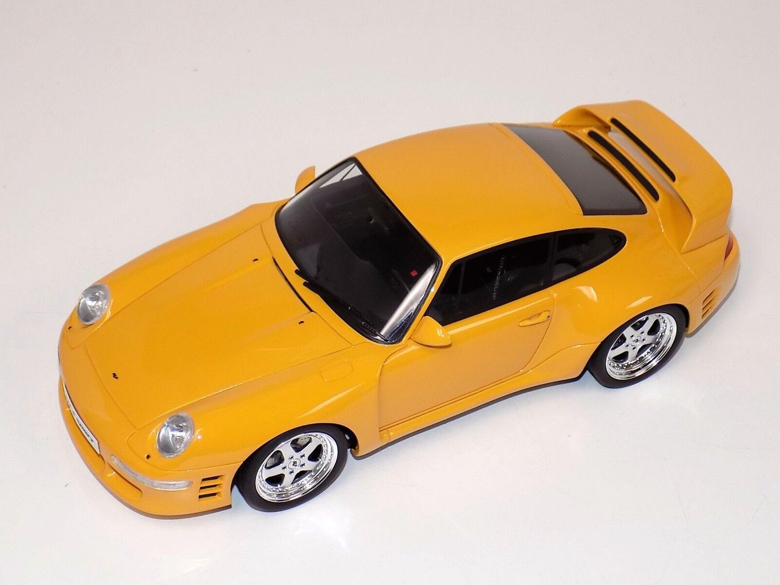 1 18 GT Spirit Porsche 911' 993 'RUF CTR 2 SPORT en jaune GT141