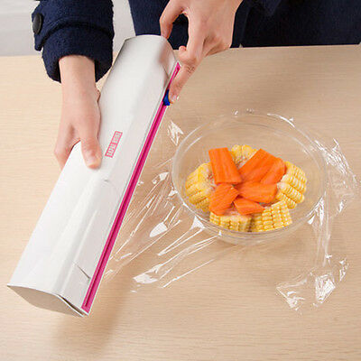 New Vogue Plastic Kitchen Foil And Cling Film Wrap Dispenser Cutter Storage