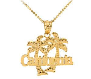 Yellow 10k gold california palm tree pendant necklace ebay image is loading yellow 10k gold california palm tree pendant necklace aloadofball Choice Image