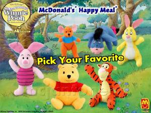 MIP-McDonald-039-s-2002-WINNIE-THE-POOH-Disney-SMALL-PLUSH-Stuffed-Animal-CHOOSE-TOY