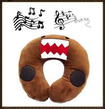 MUSIC & SOUND DOMO KUN U SHAPED MP3 MP4 IPHONE TRAVEL NECK SOFT PLUSH PILLOW