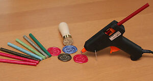Wax Seal Stamp Melting Gun For Sealing Wax UK Plug with either 2, 5 or 10 Sticks