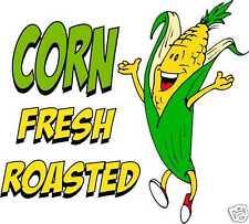 Corn Fresh Roasted Concession Cart Food Vinyl Menu Sign Decal 14