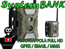 FOTOTRAPPOLA Foto Trappola Infrarossi sensore PIR 12MP FULL HD 1080p + GPRS MMS