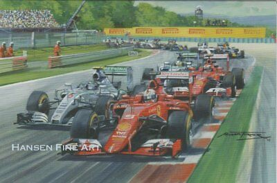 Sebastian Vettel Formula 1 One F1 Motor Ferrari Racing Car Blank Birthday Card