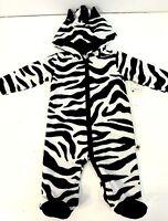 Cozy Fleece 'tiny Tillia' By Avon Infant Size 6-9 Month Zebra Onsie