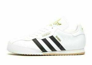 Adidas-Originals-Samba-Super-Blanc-or-Noir-Baskets-Homme-Taille-UK-9-5-EU-44