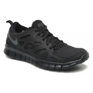 7bd243bde659 Nike Free Run 2 (Gs) Black   Dark Grey (N23) 443742-023 Older Boys ...
