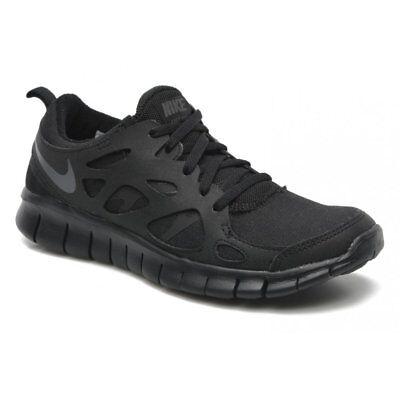 hot sale online 6a3df 4389d Nike Free Run 2 (Gs) Black   Dark Grey (N23) 443742-023 Older Boys Trainers    eBay