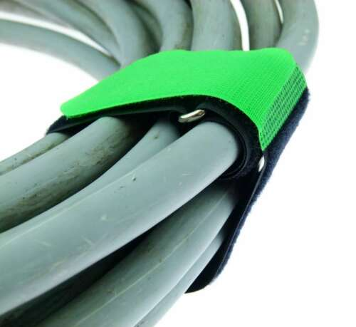 20 x Kabelklettband 80 cm x 50 mm dunkel grün Klettband Klett Kabel Binder Band