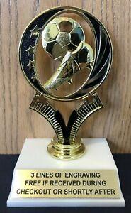 Charmant Football Trophy-gratuite Gravure-assemblage Requis-afficher Le Titre D'origine