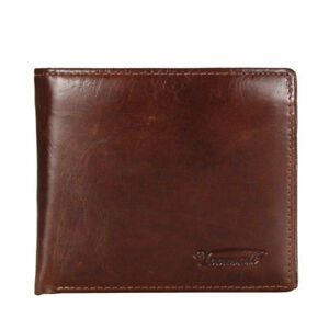 Genuine-Leather-Mens-Wallet-ZIPPER-Coin-Purse-Vintage-Retro-Credit-ID-Bifold-USA