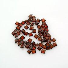 5 piezas de 3mm Cuadrado-Aspecto Rojo Oscuro Piedras preciosas Naturales granate Mozambique £ 1! sin precio de reserva!