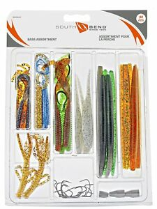 Dip Bait Worms Weights 20pc Catfish Tackle Box With Balsa Pole Float Hooks
