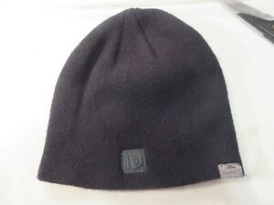 Roots TD Toronto Dominion Bank logo Beanie Hat Toque Cap black