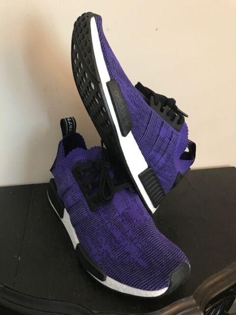 adidas NMD R1 PK Primeknit Men's Shoes Energy Ink Purple Black B37627 Size 9