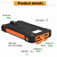 thumbnail 3 - 1000000mAh Solar Power Bank Dual USB Battery Waterproof Charger for Cell Phone