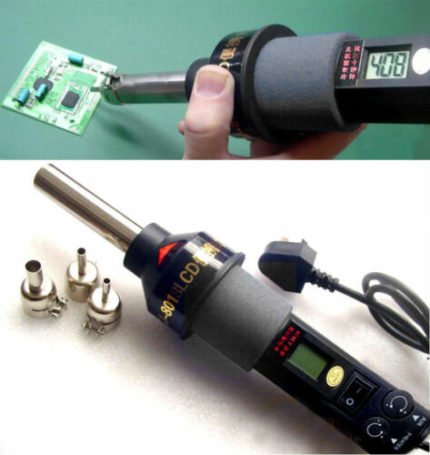 110V BGA Nozzle 450℃ 200W LCD Soldering station Hot Air Gun ICs SMD Desolder.