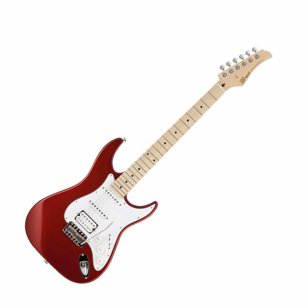 GRECO WS-STD SSH Rojo Metálico MRD diapasón de arce guitarra guitarra guitarra eléctrica 83191a