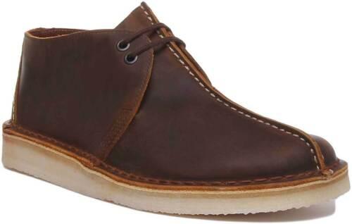 Clarks Wüste Trek Herren Bequem Wildleder Schuhe IN Bienenwachs UK Größen 6-12