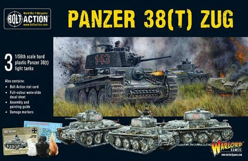 German Panzer 38(t) ZUG PLASTIC Tank Bolt Action Warlord Games 28mm