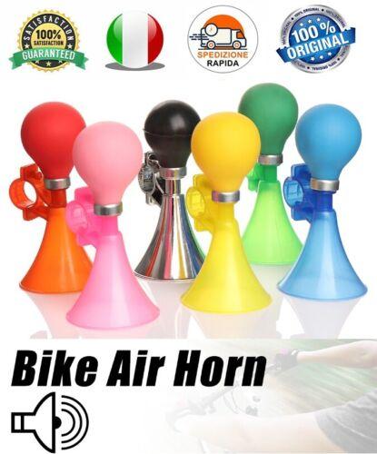 Trombetta per Bicicletta Clacson Tromba Bambini Campanello Vintage Bici Colorato