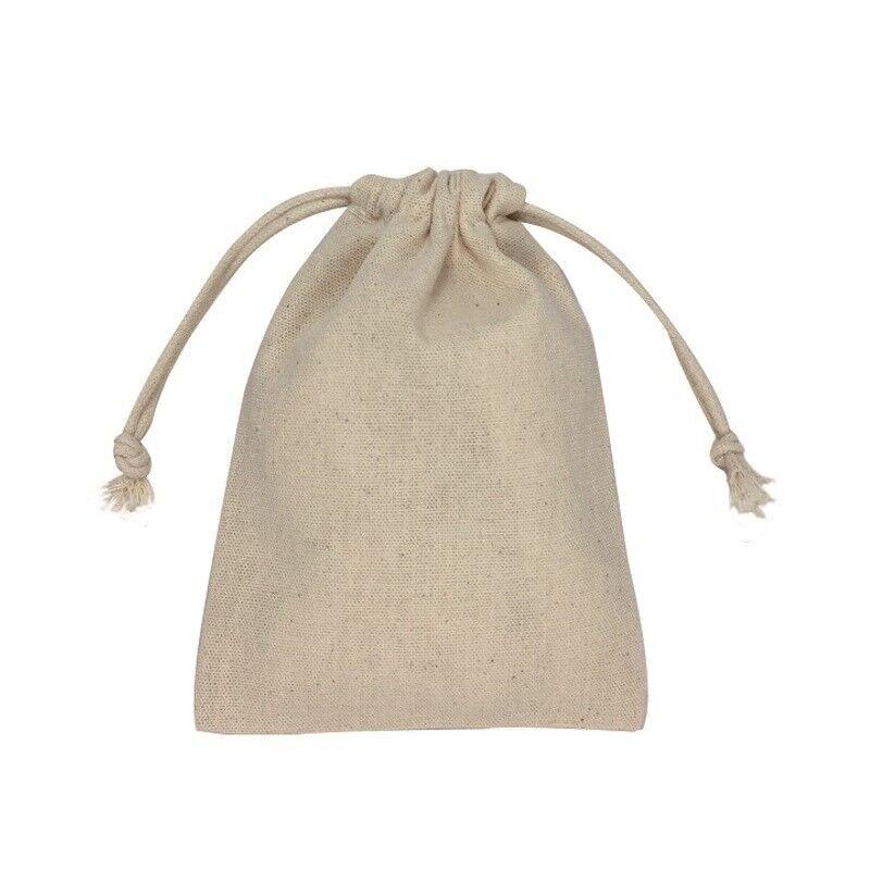 Name Brand Print Double Drawstrings Cotton Bags DIY Wedding bag craft 912cm