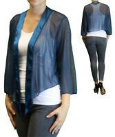 Women's Plus Size 3/4 Sleeve Teal Bolero Cardigan Sizes 3x 6x