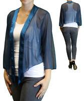 Women's Plus Size 3/4 Sleeve Teal Bolero Cardigan Sizes 3x 6x