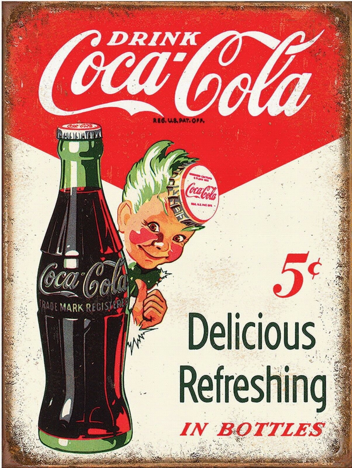 """Details about  /Coke Coca Cola Metal Tin Sign Reproduction 1916 Ice Cold 1299 16/"""" x 13/"""""""